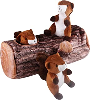IFOYO Dog Squeaky Toy, Large Durable Hide Seek Puzzle Plush Interactive Dog Toys Medium/Small Dogs, Pets, Halloween Christmas Dog Toy