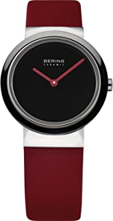 BERING Time 10729-642 Womens Ceramic Collection Watch with Calfskin Band and Scratch Resistant Sapphire Crystal. Designed in Denmark.