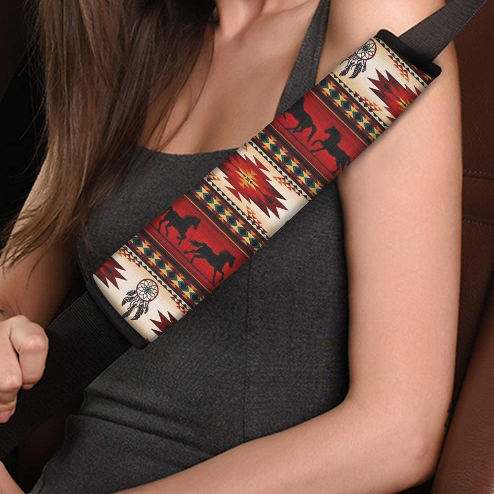 chaqlin 2 Piece Universal Car Seat Belt Covers Purple Dreamcatcher Design Super Soft Comfortable Shoulder Seatbelt Pads Cushions for Adults Children