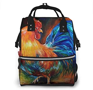 Cock Multi-Function Travel Backpack Nappy Bag,Fashion Mummy Bag