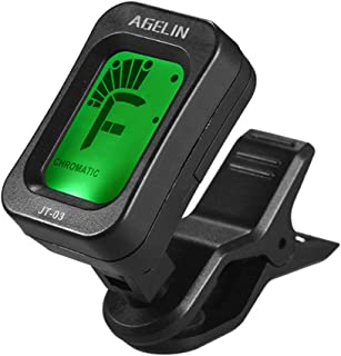 bulingbulingseason for Joyo/Agelin Acoustic Guitar Digital Tuner LCD Screen Display Clip-on Type Guitar Tuner