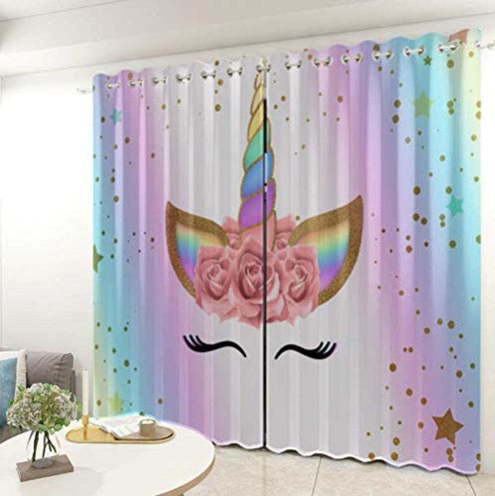 Directly managed store Blackout Window Curtainpanels Unicorn Room Dar Indefinitely Thermal Insulated