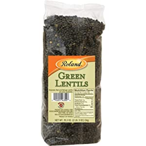 Roland Foods Dried French Green Lentils, Specialty Imported Food, 35.3-Ounce Bag