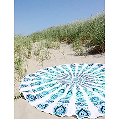 The Boho Street Branded Cotton Mandala Roundies, Beach Throw, Indian Mandala Tapestry, Yoga Mat, Picnic Mat ,Table throw