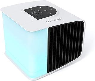 Evapolar evaSMART - Enfriador de aire y Humidificador - Ventilador de Refrigeración Portátil con Control de Aplicaciones Inteligentes y Alexa - Colorida Retroiluminación LED - Blanco