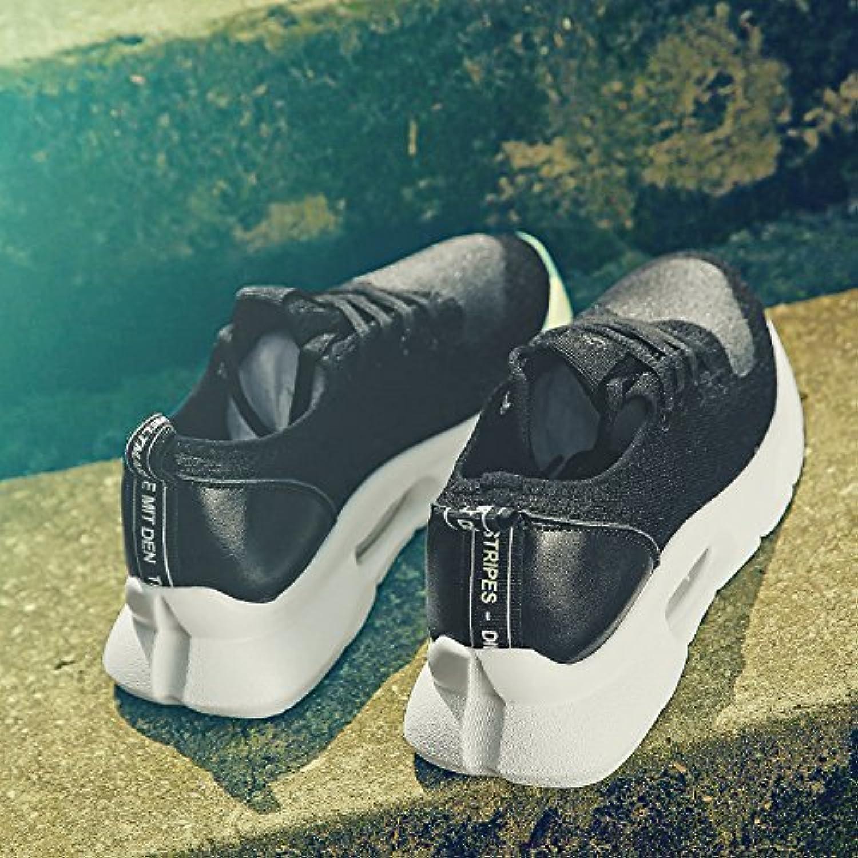 QQWWEERRTT Sportschuhe Weibliche Sommer Neue Schuhe Wild Mesh Garn Atmungsaktiv Erhöht Freizeitschuhe Weiche Schwester Schuhe  | Internationale Wahl