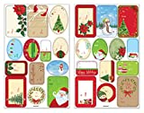 Amscan Traditional Christmas Self Adhesive Gift Tag Labels, 150 Stickers
