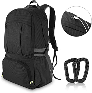 AIRSSON Waterproof 40L Foldable Hiking Lightweight Backpack for Travel Nylon Ultralight Durable Outdoor Climbing Daypack for Men&Women- Medium Compact School Laptop Rucksack