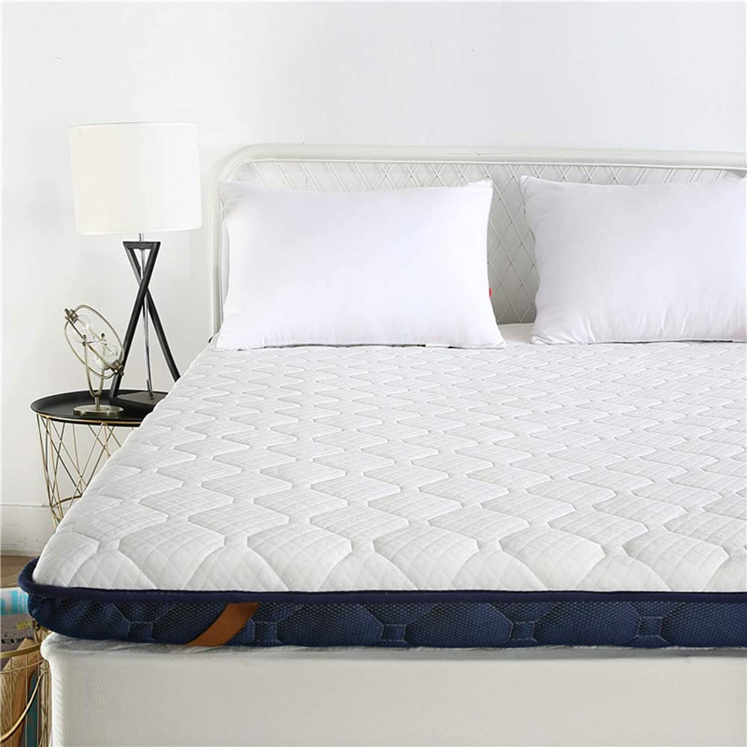 Reversible Hypoallergenic Fitted Mattress pad Cover, Premium Folding Mattress pad Topper Knitted Soft Three-Dimensional Tatami Floor Mattress Predector -B 90x200cm(35x79inch)