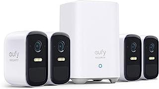 eufy Security eufyCam 2C Pro, Draadloze bewakingscamera, Beveiligingssysteem 180 dagen batterijduur, HomeKit compatibilite...