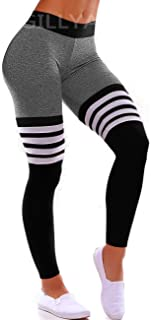 GILLYA High Waist Gym Seamless Leggings Workout Tights for Women Butt Lift Tummy Control Leggings Seamless Yoga Pants