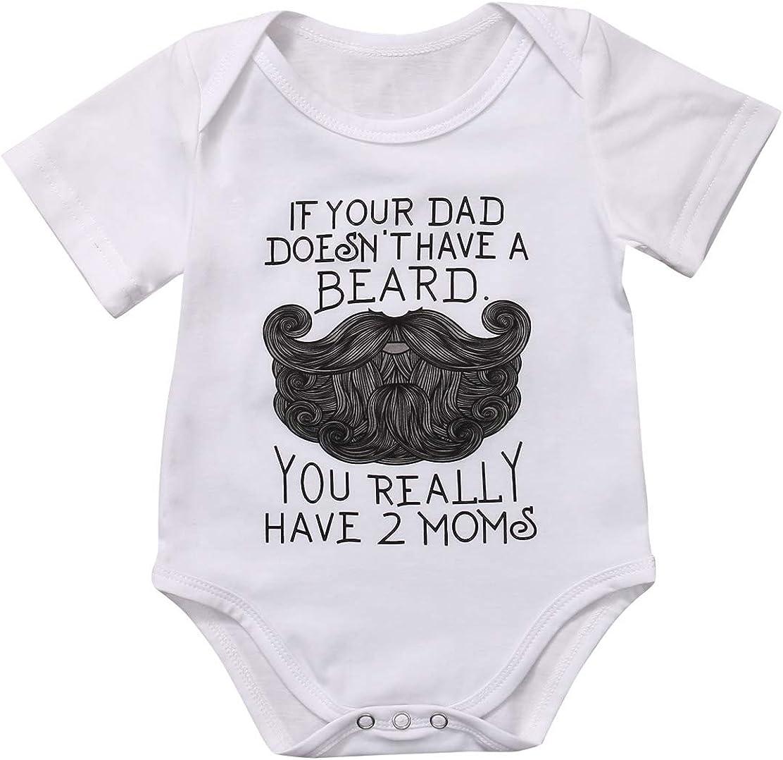 Baby BoyGirlUnisex Bodysuit my Dad has a Moustache