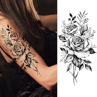 EROSPA® Tattoo-Bogen temporär/Sticker - Rosen Flowers Blum