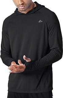 Men's UPF 50+ Sun Protection Hoodie Shirt Long Sleeve SPF Fishing Outdoor UV Shirt Hiking Lightweight