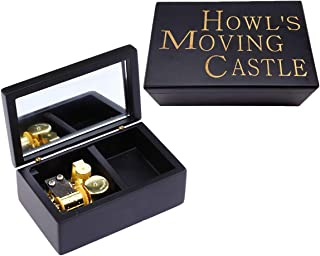 Howl's Moving Casle 18 Note Wind Up Mini Wood Music Jewelry Box Halloween Christmas Birthday Gifts Antique Crafted Home De...