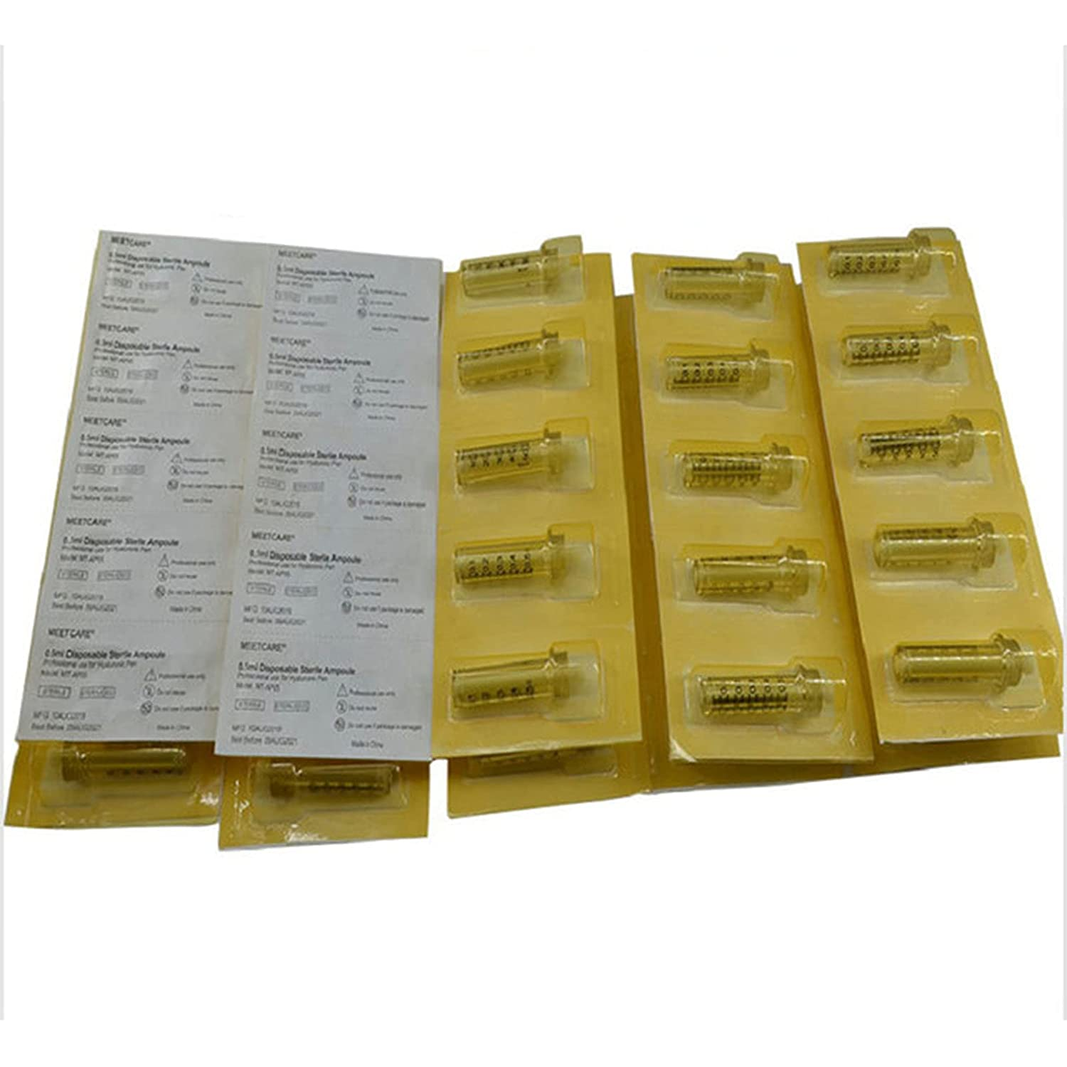 20pcs 0.5Ml Disposable Sterile Ampoule Head Pen Hig for free Jacksonville Mall shipping Hyaluron