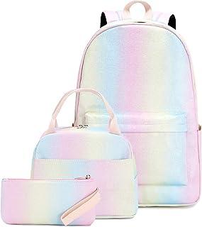 حقيبة ظهر للفتيات المراهقات حقائب مدرسية مجموعة حقائب الكتب للأطفال حقيبة ظهر مدرسية مع صندوق غداء وحقيبة أقلام