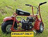 Header Exhaust Pipe for: Coleman Powersport 98cc 3.0 HP CT100U Mini Bike