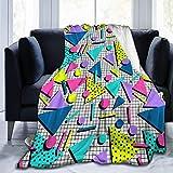 Felsiago Throw Blanket, Fashion 80s Style Ultra-Soft Micro Fleece Blanket 50 X 40 Inches Warm Blanket for Woman, Couch Fleece Blanket Lightweight Blanket
