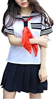 moco BFF Sailor Suit Cosplay Costume Uniform Orthodox High School Girl Jacket+Skirt+Ribbon Womens Japanese