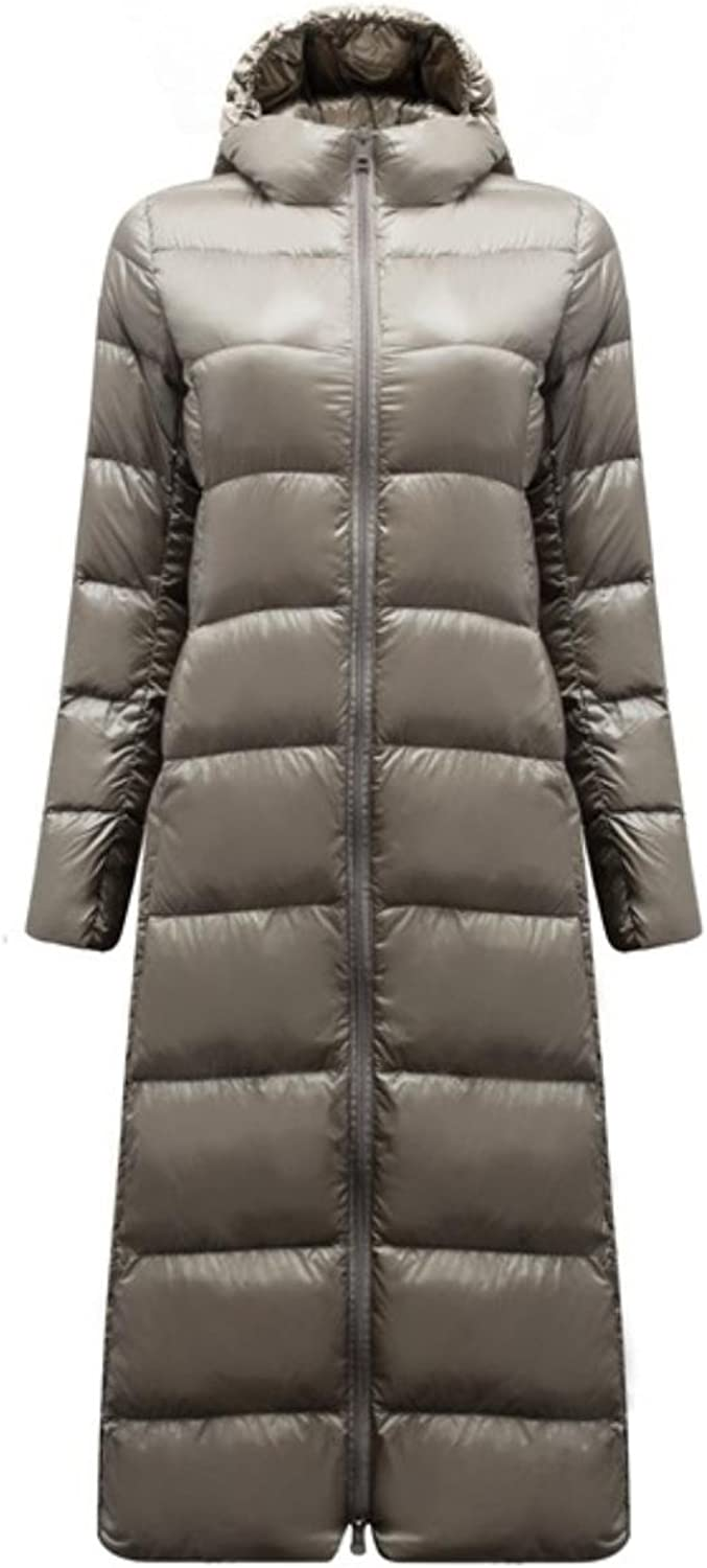BayPe Long Down Coat for Women Lightweight Feathers Windbreaker Warm Parka