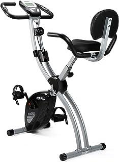 KUOKEL Bicicleta Estática Plegable Bicicleta Spinning Exercise Bike Resistencia Variable Ruido Bajo Monitor LCD Soporte pa...