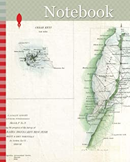 Notebook: 1852, U.S. Coast Survey Map of Key West, Biscayne Bay, and the Cedar Keys
