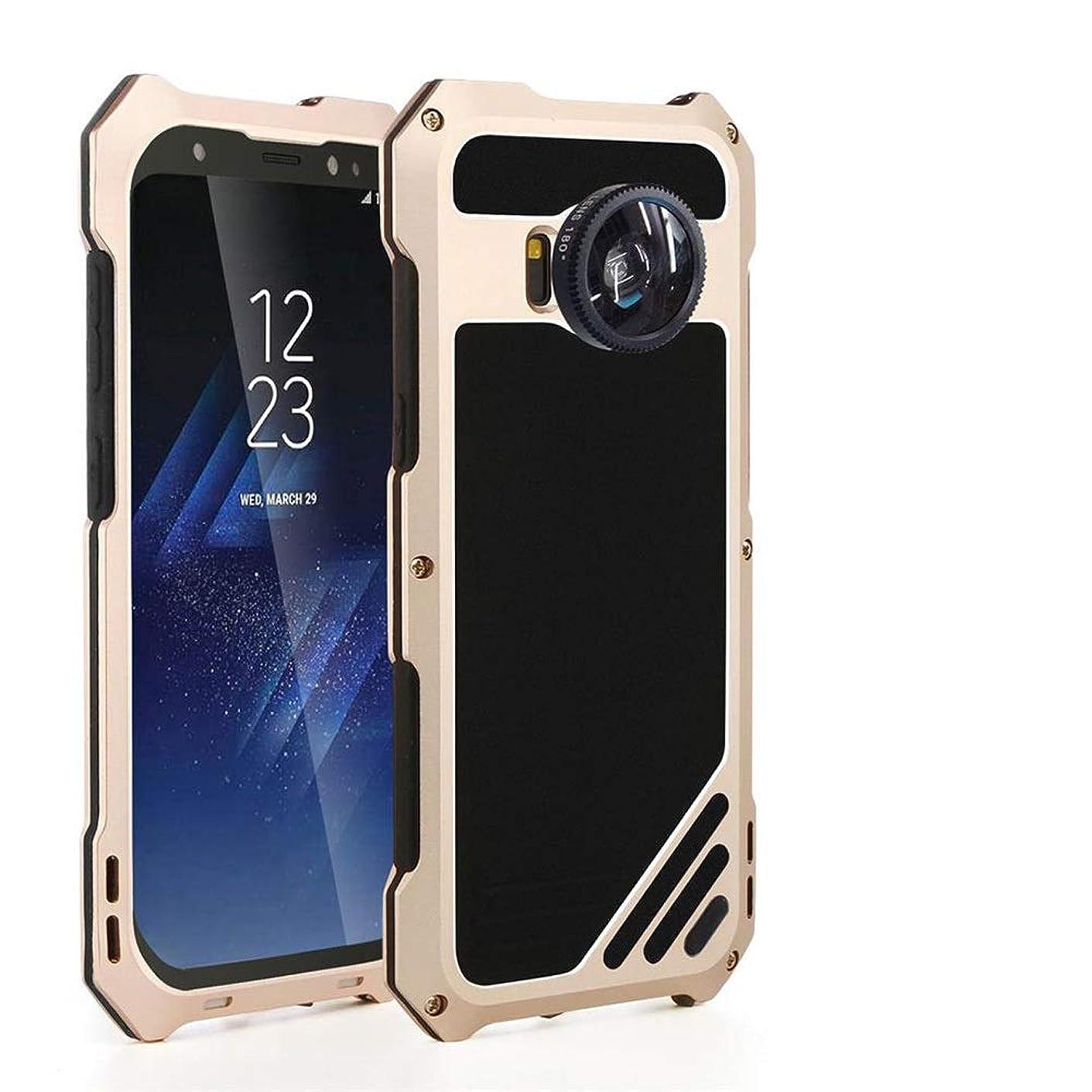 廊下克服する洗剤Tonglilili 携帯電話、サムスンS7、S7エッジ、S8、S8プラス、S9、S9プラスのためのレンズメタルケースアンチフォールオールインクルーシブガラスケース電話ケース (Color : ゴールド, Edition : S7edge)