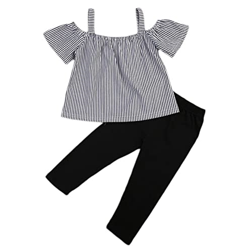 Outfits & Sets Girls' Clothing (newborn-5t) 1-5y Toddler Baby Summer Off Shoulder Outfits Kids Girl T-shirt Top+floral Long