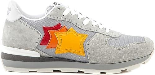 zapatos Atlantic stars hombres Antares SBB 63B TriColor plata Pelle Scamosciata SS 18