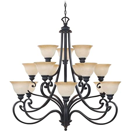 Designers Fountain 961815 Ni Barcelona 15 Light Chandelier 40 25 X 39 5 Natural Iron