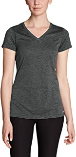 Women's Resolution V-Neck T-Shirt, HTR Gray Petite M