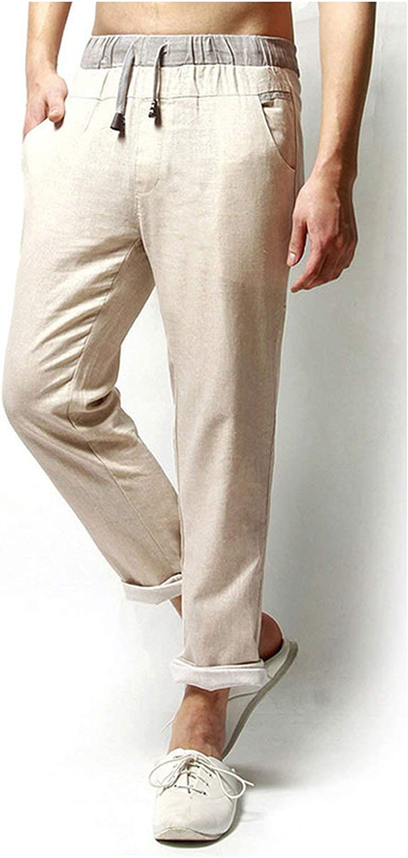 9809d6f665 Casual Summer Linen Pants Men Solid Solid Solid Thin Breathable Joggers  Sweatpants 5b1207