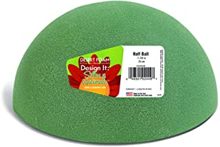 FloraCraft Floral Dry Foam Half Ball 7.8 Inch Green
