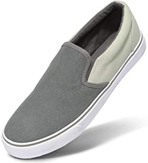 CAMEL CROWN Men's Slip on Canvas Shoes Casual Walking Shoes Lightweight Sneakers Comfortable Loafers for Men