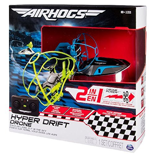 Air Hogs- Disney Hyper Drift Drone R/C, Colore Blu, SPIN-40078