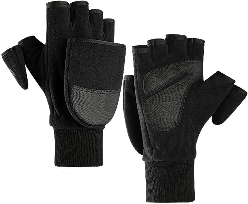 Lupovin-Keep Warm Mens Winter Touch Screen Gloves Skiing Warm Windproof Fleece Seamed Caloric Non-Slip (Color : XL)