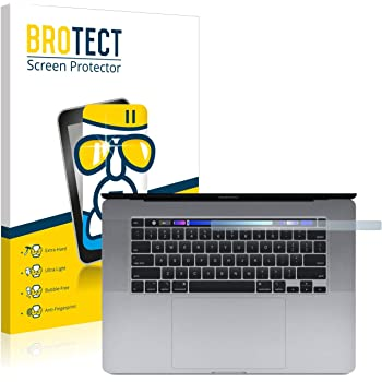 Protector Pantalla Vidrio Dureza 9H AirGlass brotect Protector Pantalla Cristal Compatible con Apple MacBook Pro 15 2016 Logo