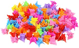 Butterfly Hair Clips for Girls and Women,LYDZTION 100 Packs Assorted Color Hair Clips Beautiful Mini Butterfly Hair Clips ...