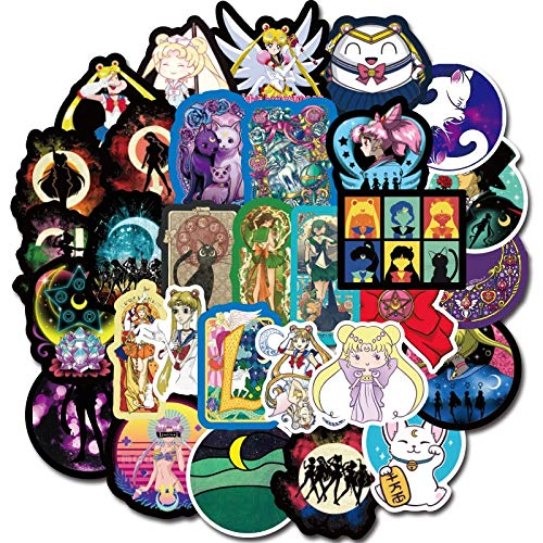 Anime Sailor Maan Sticker Paster Cartoon Scrapbook Craft Decor Cosplay Kostuums Prop Accessoires 50 stks
