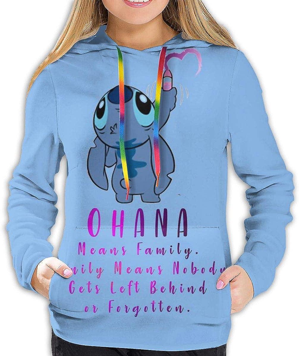 Eleebala Ohana Lilo Stitch Women's Hoodies Hooded Sweatshirt