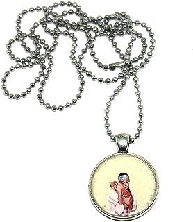 Collana con ciondolo in resina AUDREY HEPBRUN - collana con ciondolo - collana pendente