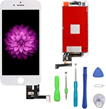 FFtopu Compatible with iPhone 7 Plus Screen Replacement White(5.5''), LCD Display & Touch Screen Digitizer Frame Assembly Set with 3D Touch Free Repair Tools