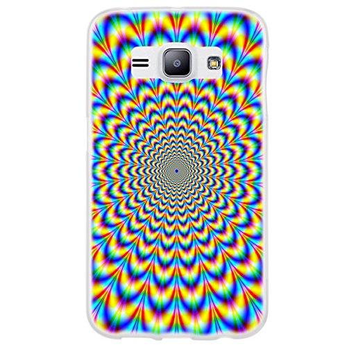 OOH!COLOR 025627_mab024 Morbida magia con Modello Silikon TPU Bumper-Guscio per Samsung Galaxy J1 A incandescenza a Tubo