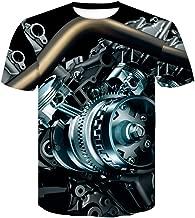 IHGTZS T-Shirts for Men, Fashion Men's Casual World Map 3D Print O-Neck Short Sleeve T-Shirt Tops Blouses