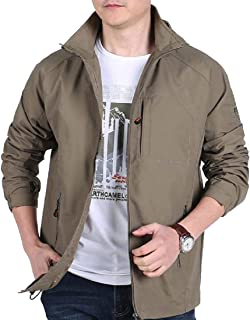 XINHEO Men Combat Stand-up Collar Breathable Trench Coat Jacket