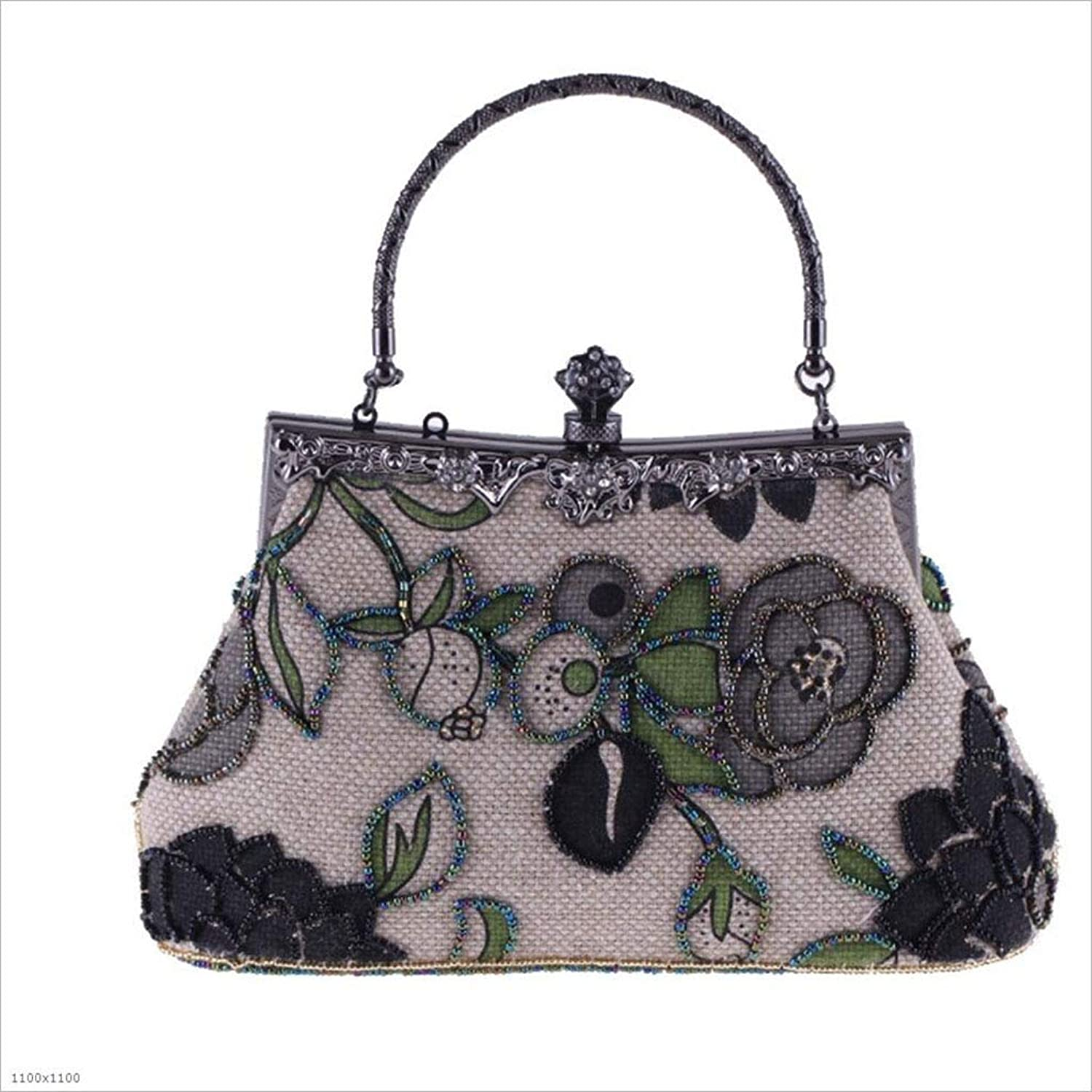 MYMAO damen es Evening Bag, Bag, Bag, damen es Bag, Beaded Bag, National Style Casual Evening Bag, Handtasche,schwarz B07PJYFQ7J  Haltbarkeit fd5c79