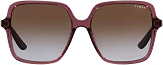 VOGUE Eyewear Women's VO5352SF Asian Fit Square Sungl, Transparent Purple/Violet/Brown Gradient, 56 mm