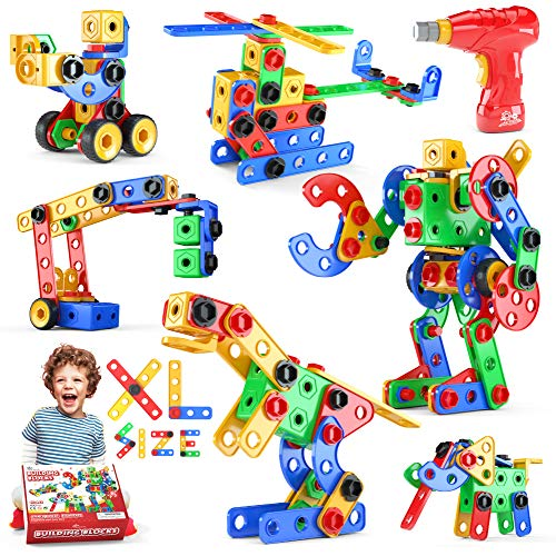 Jasonwell STEM Toys Building Blocks - 152 PCS Educational Construction Set Creative Engineering Toys Building Toys Kit Stem Activities Learning Gift for Kids Ages 3 4 5 6 7 8 9 10 Year Old Boys Girls