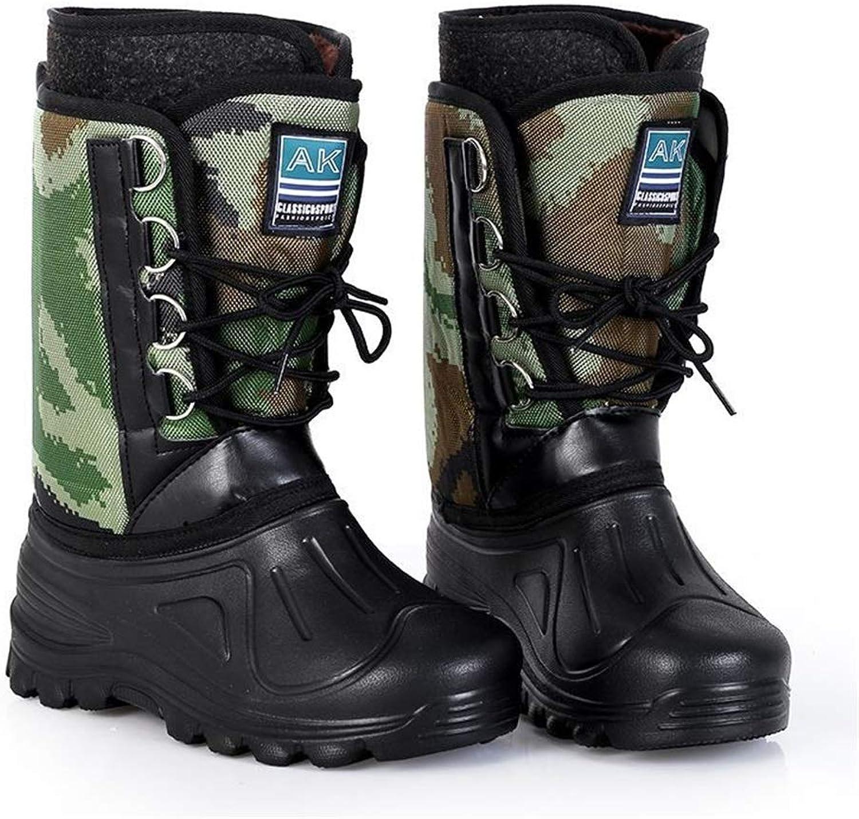Chlyuan-hm wasserdichte Regenstiefel Regen Schuhe Middle Tube Anti Slip Verschleifeste Schnee Stiefel und Schuhe Sure und Alkali Bestendig Unisex (Gre   41 1 3 EU)